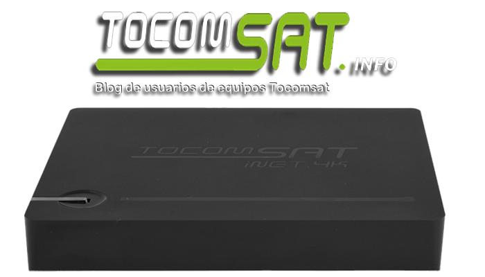 Atualização Tocomsat Inet 4K - Versão:20170106