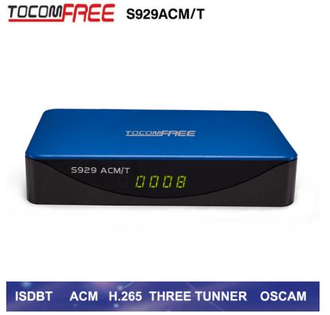 Atualização Novo Tocomfree S929 ACM/T Triplo Tunner