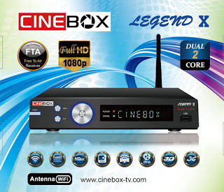ATUALIZAÇÃO CINEBOX LEGEND X – 07/09/2017
