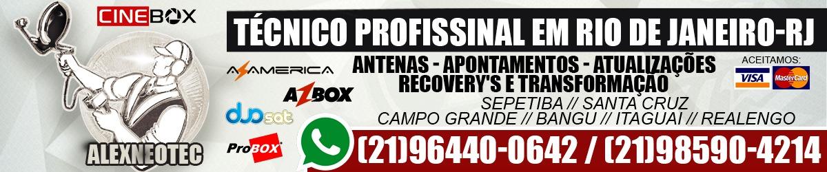 INSTALADOR DE CINEBOX EM GUARATIBA RIO DE JANEIRO (021)964400642 (021)985904214