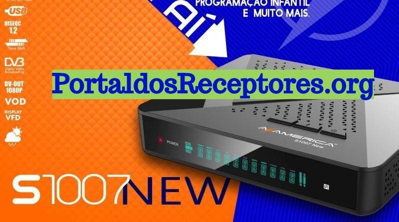 Atualização Azamerica S1007 New V1.09.20761 - Primeira versão